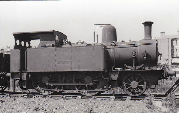 ISLE OF WIGHT RAILWAY - RYDE - IOWR 2-4-0T - built 06/1864 by Beyer Peacock Ltd., Works No.400 - 1923 to SR No.13 RYDE - 07/32 withdrawn - seen here in SR days.