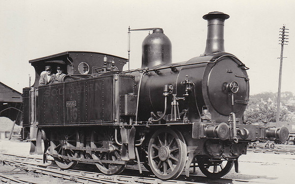 ISLE OF WIGHT RAILWAY - WROXALL - IOWR 2-4-0T - built 04/1872 by Beyer Peacock Ltd., Works No.1141 - 1923 to SR No.16 WROXALL - 06/33 withdrawn - seen here in SR days.