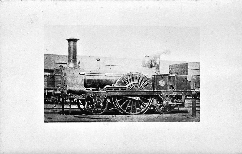 8 - Connor CR Class 4 2-2-2 - built 1847 by Greenock Works - later to CR No.26, then to CR No.41 - seen here after rebuild as 2-2-2WT.