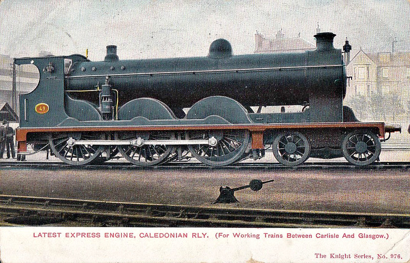 49 - McIntosh CR Class 49 4-6-0 - built 1903 by St Rollox Works - 1923 to LMS No.14750 - 1933 withdrawn - posted November 15th, 1905.