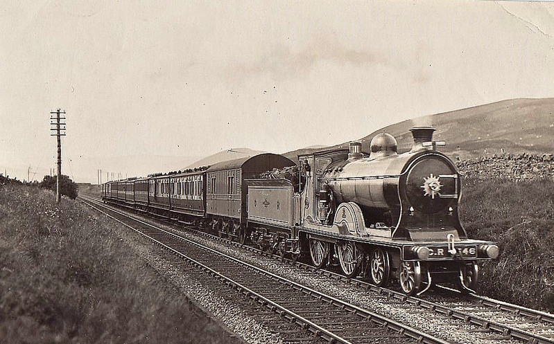 146 - McIntosh CR Class 140 'Dunalastair IV' 4-4-0 - built 1905 by St Rollox Works - 1923 to LMS No.14355 - 1939 withdrawn - seen here near Beattock.