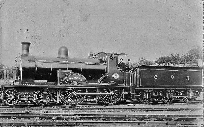 721 DUNALASTAIR - McIntosh CR Class 721 'Dunalastair' 4-4-0 - built 1896 by St Rollox Works - 1923 to LMS No.14311 - 1931 withdrawn - posted January 3rd, 1905.