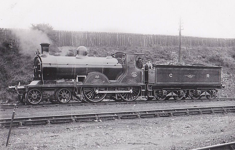 774 - McIntosh Class 766 'Dunalastair II' 4-4-0 - built in 1898 by St Rollox Works - 1923 to LMS No.14330 - 1941 withdrawn - seen here at Carlisle Kingmoor.