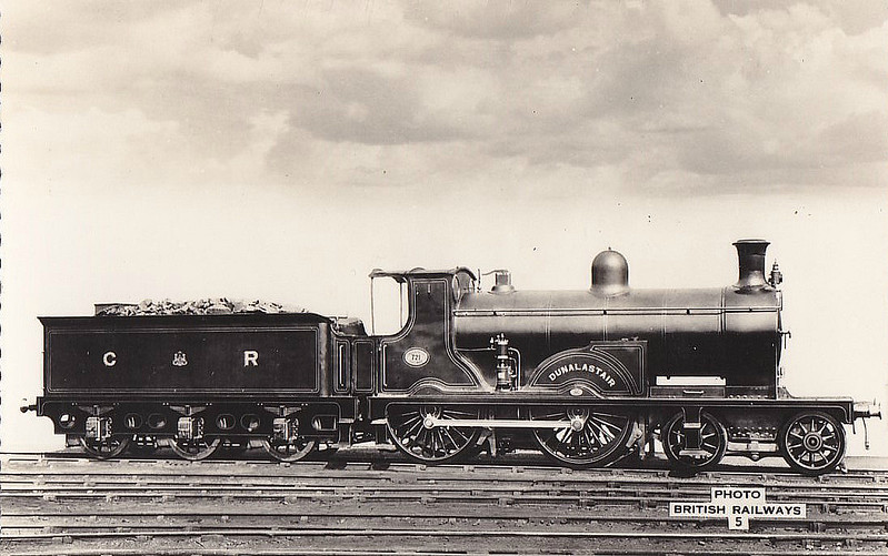 721 DUNALASTAIR - McIntosh CR Class 721 'Dunalastair' 4-4-0 - built 1896 by St Rollox Works - 1923 to LMS No.14311 - 1931 withdrawn.