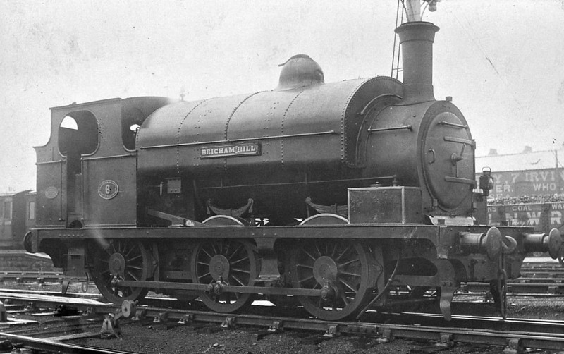 No.6 BRIGHAM HALL - 0-6-0ST - built 1894 by Robert Stephenson & Co., Works No.2813 - 1923 to LMS No.11564 - 12/26 withdrawn.