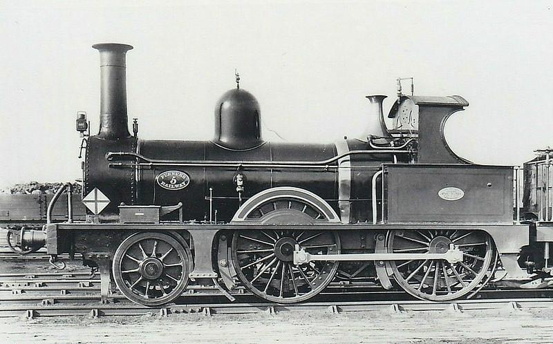 5 - FR Class E1 2-4-0 - built 1873 by Sharp Stewart & Co., Works No.2364 - 1907 withdrawn.
