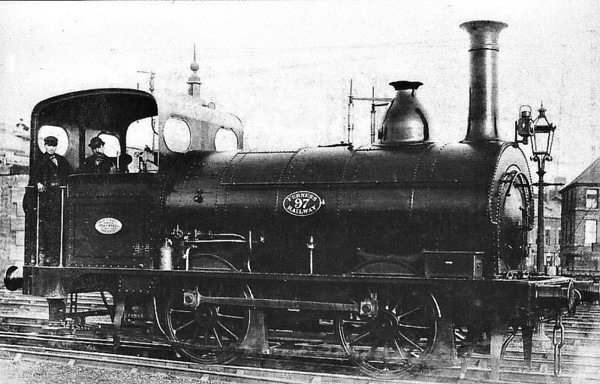 97 - FR 0-4-0ST - built 1874 by Sharp Stewart & Co. - 1923 to LMS No.11258 - 1924 withdrawn.