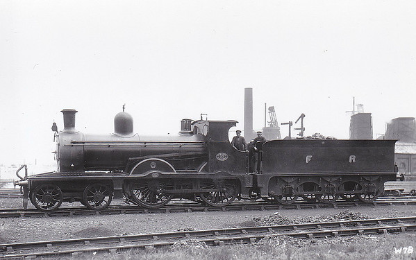 37 - Pettigrew FR 'Larger Seagull' Class K2 4-4-0 - built 1896 by Sharp Stewart & Co. as FR No.37 - 1923 to LMS No.10140 - all withdrawn by 193 - seen here at Barrow.
