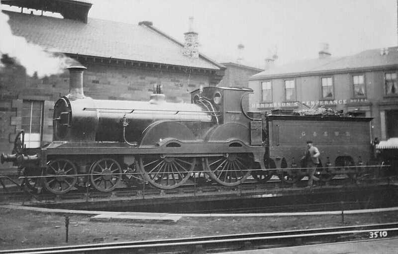 192 - James Stirling GSWR Class 6 4-4-0 - built 02/1875 by Kilmarnock Works, Works No.107, as GSWR No.96 - 05/1896 to Duplicate List as No.96A - 07/1899 rebuilt by Manson to Class 191 No.192 - 1919 to GSWR No.470, 1923 to LMS No.14229 - 12/25 withdrawn.