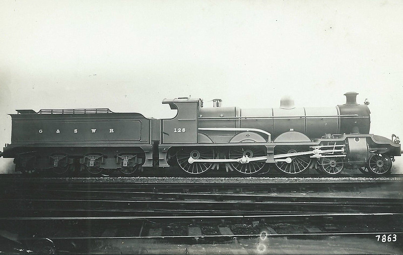 128 - Manson GSWR Class 128 4-6-0 - built 07/11 by North British Loco Co. - 1919 to GSWR No.512, 1923 to LMS No.14673 - 12/33 withdrawn.