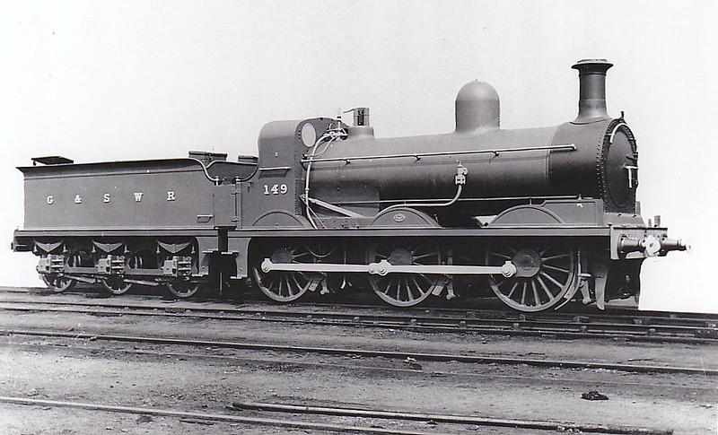 149 - Smellie GSWR Class 22 0-6-0 - built 02/1891 by Kilmarnock Works, Works No.234 - 06/17 to Duplicate List as No.149A - 1919 to GSWR No.603, 1923 to LMS No.17161 - 10/25 withdrawn.