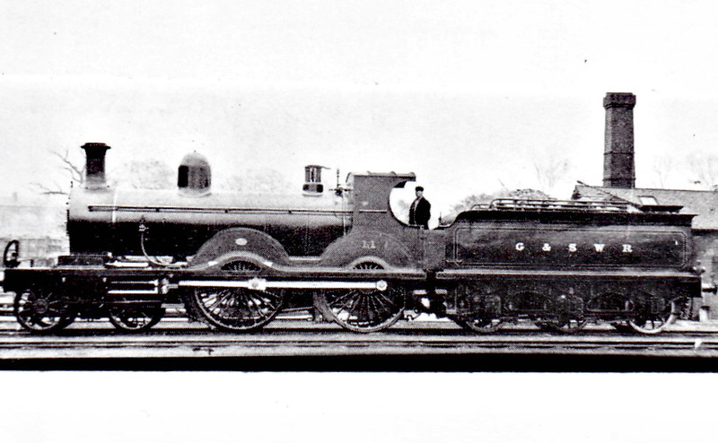 11 - Manson GSWR Class 3P 4-cylinder 4-4-0 - built 04/1897 by Kilmarnock Works - 1919 to GSWR No.394, 1922 rebuilt and named LORD GLENARTHUR, 1923 to LMS No.14509 - 11/34 withdrawn from Girvan MPD.