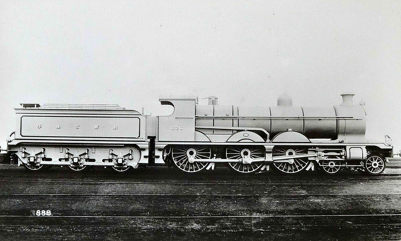126 - Manson GSWR Class 381 4-6-0 - built 01/11 by Kilmarnock Works, Works No.429 - 1919 to GSWR No.510 - 02/20 rebuilt - 1923 to LMS No.14672 - 11/32 withdrawn.
