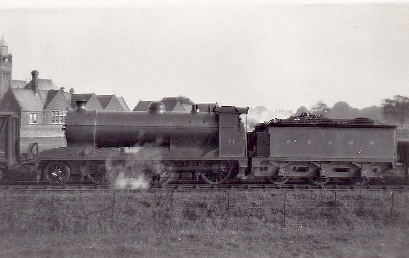 51 - Drummond GSWR class 403 2-6-0 - built 11/15 by North British Loco Co. as GSWR No.409 - 1915 to GSWR No.16, 1919 to GSWR No.51, 1923 to LMS No.17820 - 01/38 withdrawn - seen here shunting at Annan.