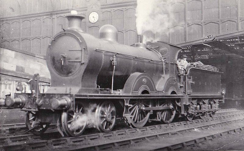 252 - Manson GSWR Class 240 4-4-0 - built 06/05 by Kilmarnock Works - 1919 to GSWR No.387, 1923 to LMS No.14259 - 1929 withdrawn from Carlisle, where seen.