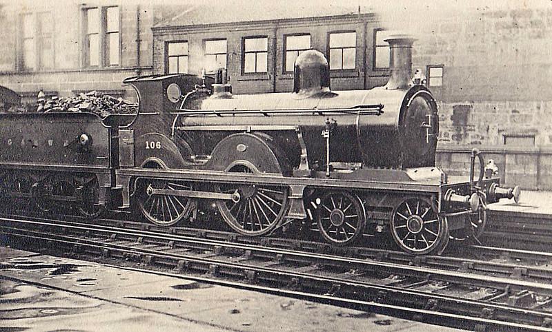 106 - Manson GSWR Class 8 4-4-0 - built 06/1896 by Kilmarnock Works - 1919 to GSWR No.428, 1923 to LMS No.14193 - 09/25 withdrawn.