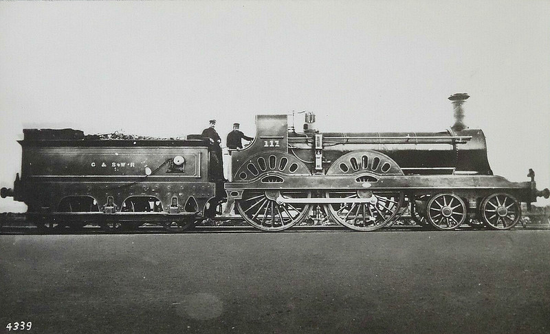 111 - Stirling GSWR Class 6 4-4-0 - built 11/1876 by Kilmarnock Works, Works No.121 - 12/1896 to Duplicate List as No.111A - 07/1899 withdrawn.