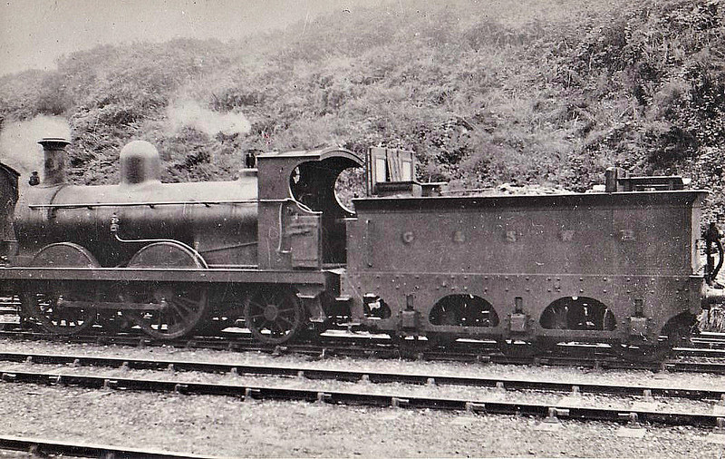 204 - Stirling GSWR Class 187 0-4-2 - built 1871 by Neilson & Co. - 09/00 rebuilt by Manson and to GSWR No.180, 1919 to GSWR No.270, 1923 to LMS No.17030 - 1927 withdrawn - note home-made tender cab.