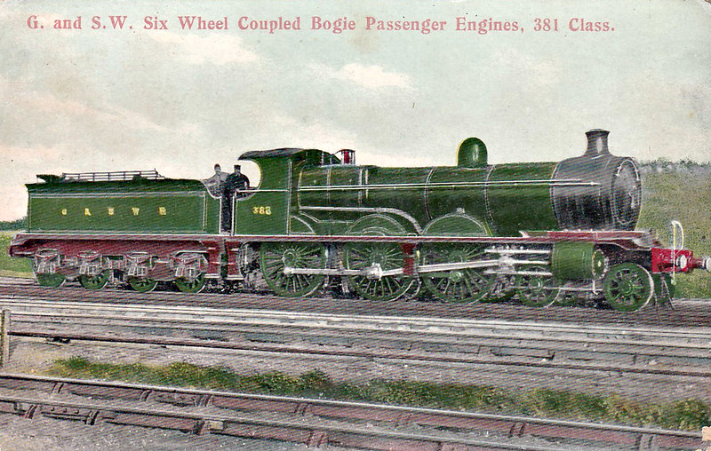 388 - Manson Class 381 4-6-0 - built 06/03 by North British Loco Co. - 1919 to GSWR No.502, 1923 to LMS No.14663 - 10/32 withdrawn.