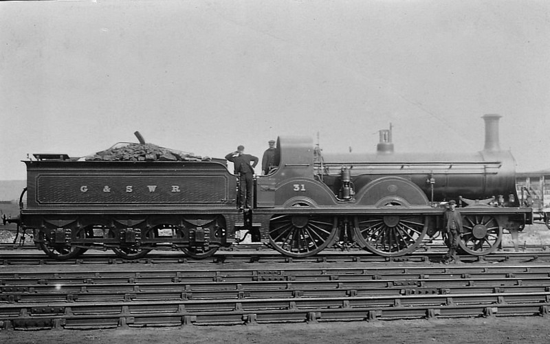 31 - Smellie GSWR Class 157 2-4-0 - built 12/1880 by Kilmarnock Works - 01/08 to Duplicate List as No.31A - 02/12 withdrawn.