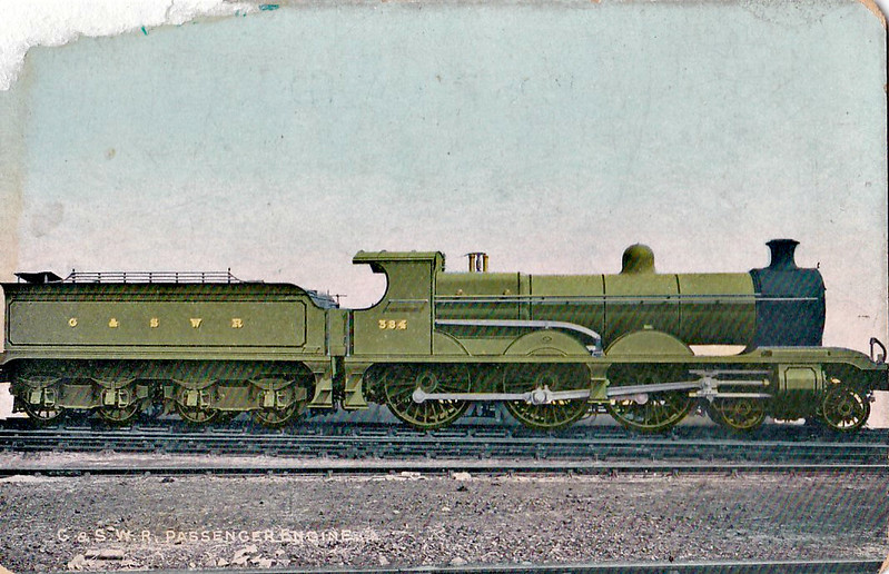 384 - Manson Class 381 4-6-0 - built 05/03 by North British Loco Co. - 1919 to GSWR No.498, 1923 to LMS No.14659 - 1933 withdrawn.