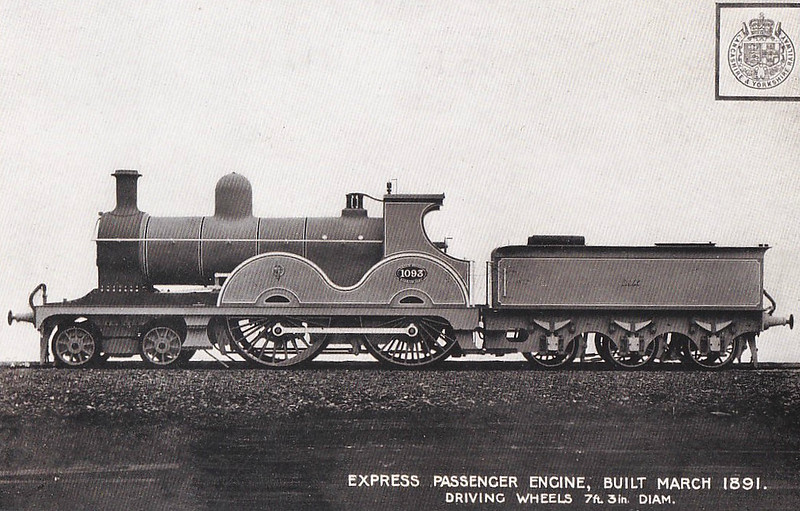 1093 - Aspinall LYR Class 1093 2P 4-4-0 - built 1891 by Horwich Works - 1923 to LMS No.10150 - all withdrawn by 1930.