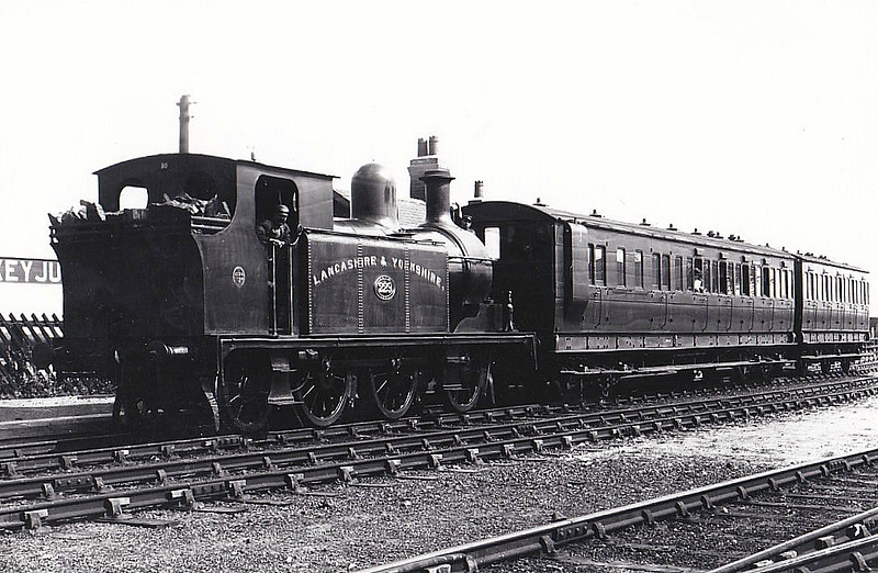 229 - Barton Wright LYR Class 22 0-6-2T - built 1881 by Kitson & Co. - seen here at Haxey Junction on the Axholme Joint Railway before 1903.