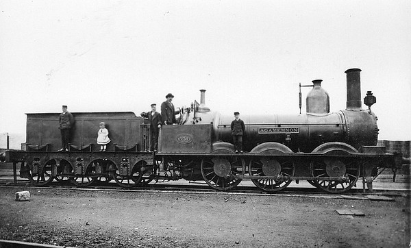 656 AGAMEMNON - East Lancashire Railway 0-6-0 - built 1853 by Walker Bros. - 1881 withdrawn.