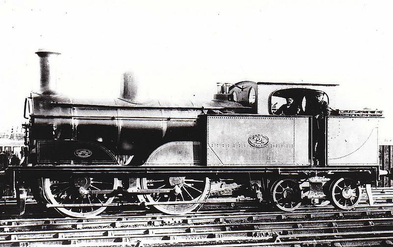2 - Barton-Wright LYR Class 111 0-4-4T - built 1885 by Sharp Stewart & Co. as LYR No.916 - 1886 to LYR No.2 - 03/10 withdrawn.