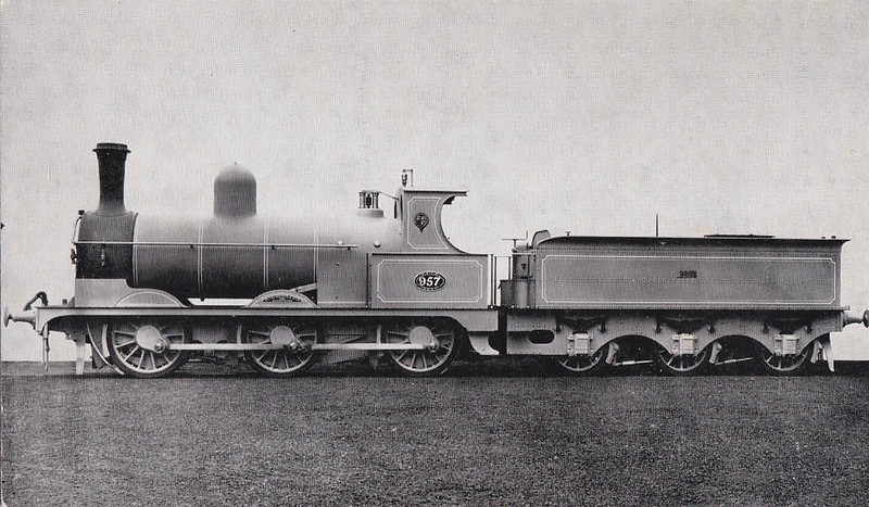 957 - Barton Wright LYR Class 25 2F 0-6-0 - built 08/1887 by Beyer Peacock Ltd. - 1923 to LMS No.12044, 04/48 to BR No.52044 - 07/59 withdrawn from 25A Wakefield - preserved at SVR.