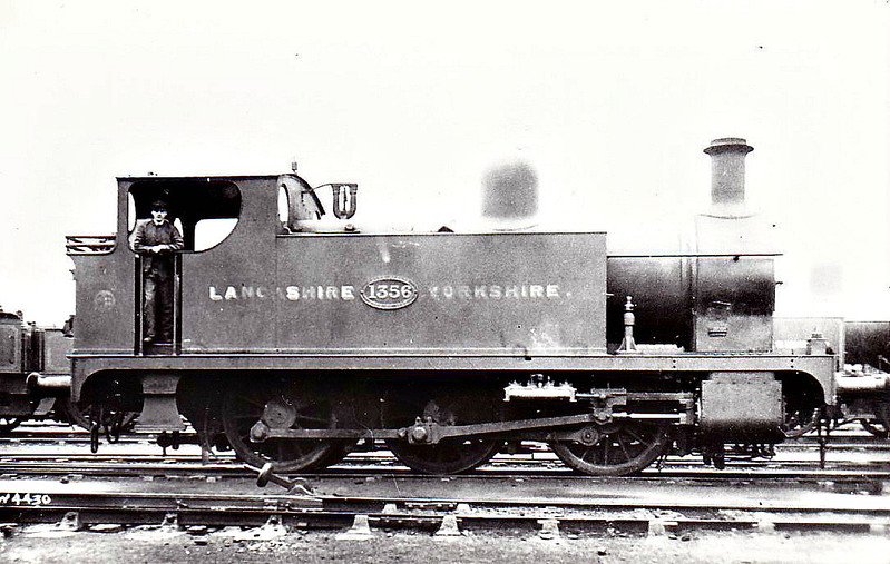 1356 - Aspinall LYR Class 21 1F Dock Tank 0-6-0T - built 09/1897 by Horwich Works - 1924 to LMS No.11536, 12/49 to BR No.51539 - 01/54 withdrawn from 27A Bank Hall.