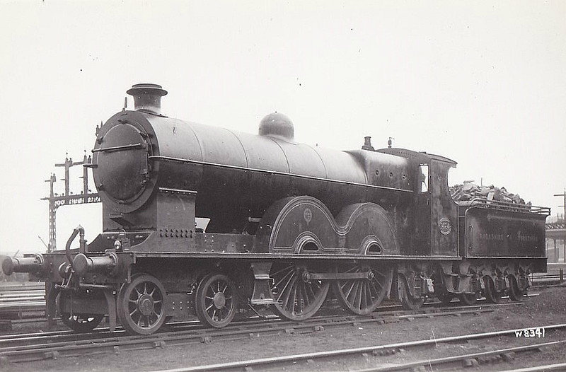 1424 - Aspinall LYR Class 7 'Highflyer' 2P 4-4-2 - built 1902 by Horwich Works - 1923 to LMS No.10339 - all withdrawn by 1934.