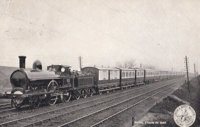 410 CITY OF LIVERPOOL - Webb LNWR 'Teutonic' Class 2-2-2-0 - built 06/1886 by Crewe Works - 04/04 withdrawn - posted July 31st, 1905.