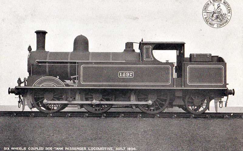 1597 - Webb LNWR '18 Inch Passenger Tank' Class 2P 0-6-2T - built 1896 by Crewe Works - 1923 to LMS No.6870 - 01/47 withdrawn from Watford MPD.