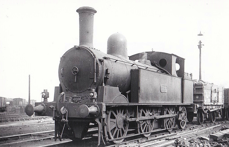 3736 - Webb LNWR 'Coal Tank' Class 1F 0-6-2T - built 12/1886 by Crewe Works as LNWR No.224 - to LNWR No.3736, 1923 to LMS No.7761 - 03/46 withdrawn from Bolton MPD - seen here at Willesden.