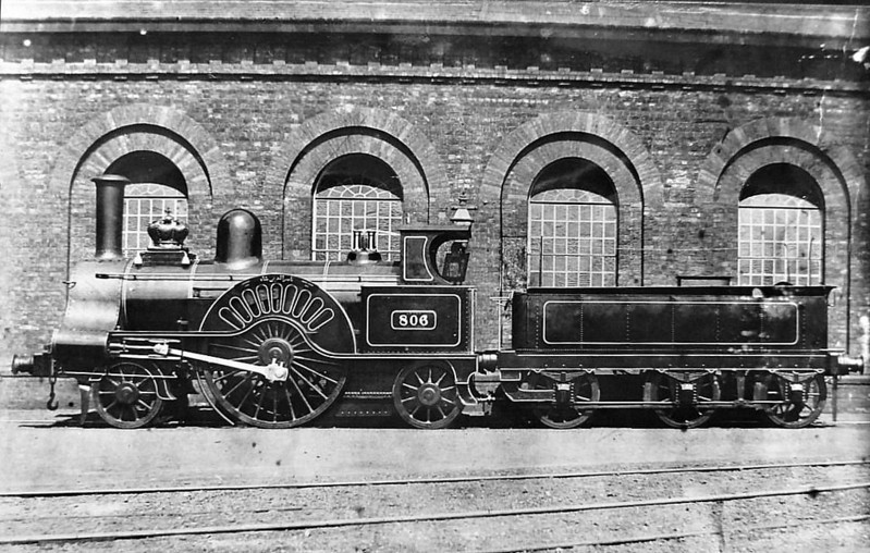 806 WAVERLEY - Ramsbottom LNWR 'Problem' Class 2-2-2 - built 1863 by Crewe Works - 1905 withdrawn.