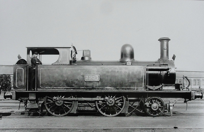 2234 - Webb LNWR 'Chopper' Class 1P 2-4-0T - built 1876 by Crewe Works - 1927 to LMS No.6420 - 01/28 withdrawn.