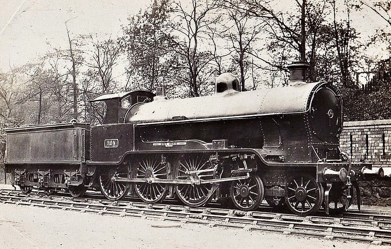 964 BRET HARTE - Bowen-Cooke LNWR Prince of Wales Class 4-6-0 - built 04/16 by Crewe Works  - 06/27 to LMS No.5632 - 09/33 withdrawn - note outside valve gear.