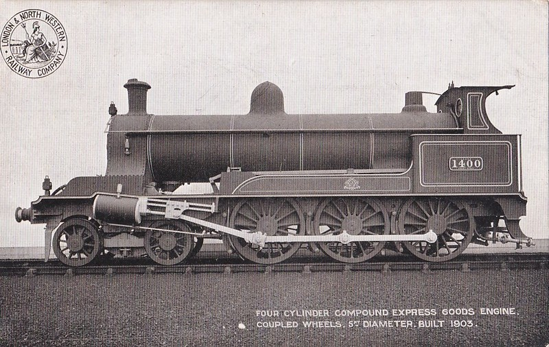 1400 - Webb LNWR 'Bill Bailey' Class 4-Cylinder Express Goods 4-6-0 - built 1903 by Crewe Works - 1914 all withdrawn.