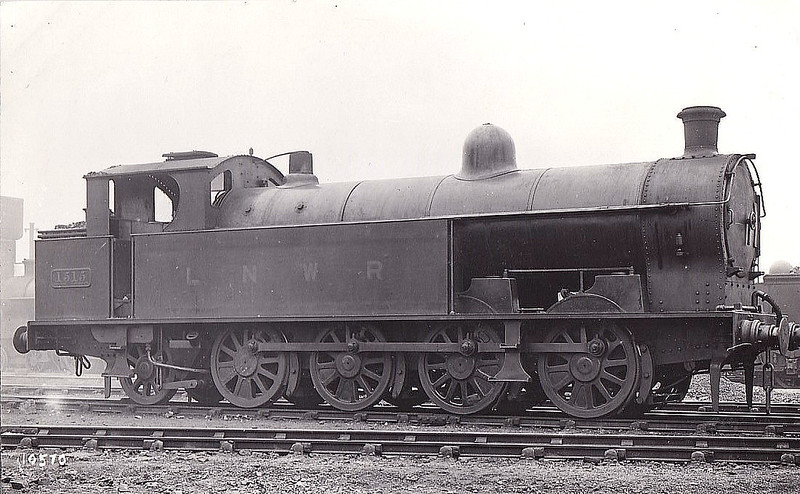 1515 - Bowen-Cooke LNWR Class 1185 6F 0-8-2T - built 09/15 by Crewe Works - 1923 to LMS No.7888 - BR No.47888 not applied - 12/48 withdrawn from 10A Wigan Springs Branch.