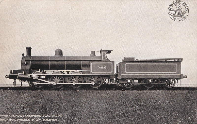 1881 - Webb LNWR Class G1 6F Compound 0-8-0 - built 08/01 by Crewe Works - 12/26 to LMS No.8900 - 07/28 withdrawn.