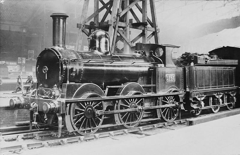 1783 - Ramsbottom LNWR Class 'DX Goods' 0-6-0 - built 1870 by Crewe Works - 1912 to Duplicate List as No.3188 - 1925 withdrawn.