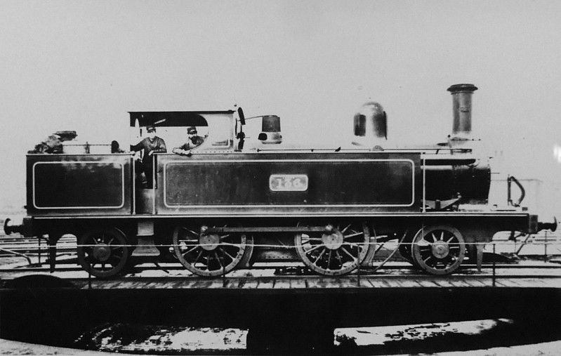 136 - Webb LNWR Class 71 2-4-2T - built 1882 by Crewe Works - 1915 withdrawn.