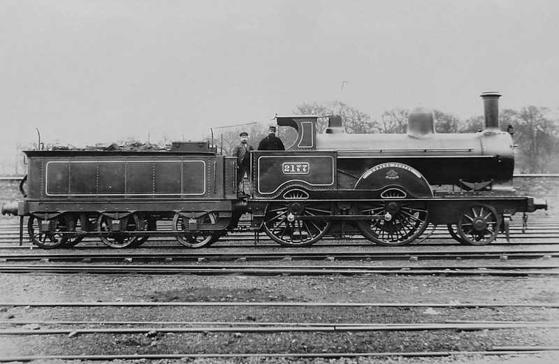 2177 -EDWARD TOOTAL - Webb LNWR 'Precedent' Class 2-4-0 - built 1875 by Crewe Works - 1895 rebuilt as 'Improved Precedent' Class - 1911 withdrawn.