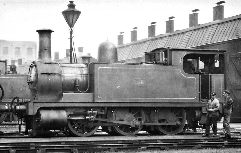 2881 - Park NLR Class 75 2F 0-6-0T - built 1887 by Bow Works as NLR No.63 - 1922 to LNWR No.2881, 1927 to LMS No.7511, 1934 to LMS No.25711 - 07/37 withdrawn from Devons Road MPD, where seen 08/25.