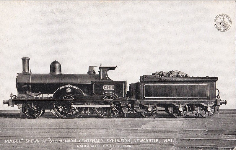 619 MABEL - Webb LNWR 'Improved Precedent' Class 2-4-0 - built 02/1896 by Crewe Works - 1923 to LMS No.5060 - 05/26 withdrawn.