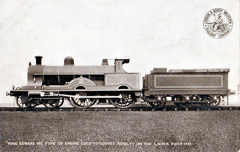 1942 KING EDWARD VII - Webb LNWR 'Alfred the Great' Class 4-Cylinder Compound 4-4-0 - built 05/01 by Crewe Works - 09/22 rebuilt by Whale as 2-Cylinder Simple 'Renown'Class - 1923 to LMS No.5185 - 02/30 withdrawn.