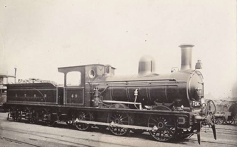 49 - Ottoman Railways LTSR Class 49 2F 0-6-0 - built 1898 by Sharp Stewart & Co. for Ottoman Railways - order cancelled, bought by LTSR - 1912 to MR as No.2898 - 12/33 withdrawn - seen here when new - later cab window was filled in - only tender engines owned by LTSR.