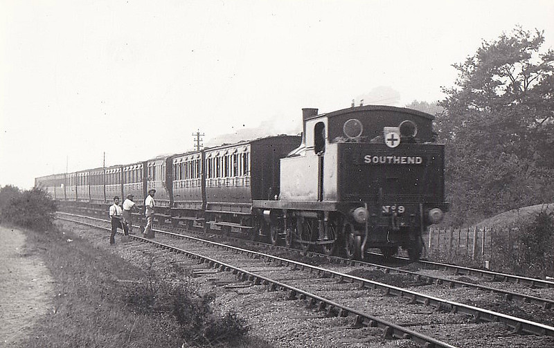 9 PURFLEET - Whitelegg Class 1 4-4-2T - built 07/1880 by Sharp Stewart - 1912 to MR No.2118, 1923 to LMS No.2208, 1930 to LMS No.2085 - 06/30 withdrawn - seen here near Leigh-on-Sea.