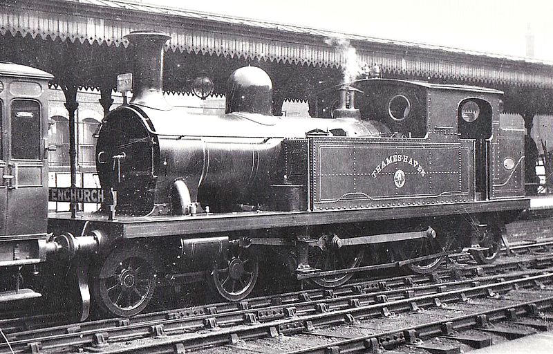 17 THAMESHAVEN - Whitelegg Class 1 4-4-2T - built 1881 by Sharp Stewart & Co. - 1912 to MR No.2126, 1923 to LMS No.2191, 1930 to LMS No.2068 - 1935 withdrawn.